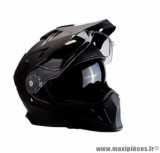 Casque moto cross double écran Trendy 19 T-803 taille XS (T53-54) couleur noir mat