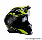 Casque moto cross double écran Trendy 19 T-803 MX Escape taille M (T57-58) couleur noir/jaune fluo