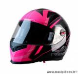 Casque intégral Trendy 19 T-501 Stealth taille M (T57-58) couleur noir/rose
