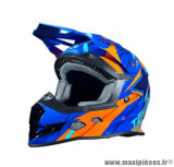 Casque moto cross Trendy 19 T-902 Dreamstar taille XXL (T63-64) couleur bleu/orange