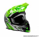 Casque moto cross Trendy 19 T-902 Dreamstar taille L (T59-60) couleur blanc/vert