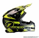 Casque moto cross Trendy 19 T-902 Mach1 taille XXL (T63-64) couleur noir/jaune