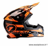 Casque moto cross Trendy 19 T-902 Mach1 taille S (T55-56) couleur noir/orange