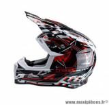 Casque enfant moto cross Trendy 19 T-906 Shorcut taille YS (T48) couleur noir/blanc/rouge