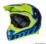 Casque moto cross adulte MT Synchrony Spec taille S (T55-56) couleur bleu/jaune fluo *Prix Spécial !