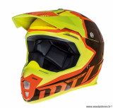 Casque moto cross adulte MT Synchrony Spec taille XS (T53-54) couleur orange/jaune fluo