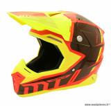Casque moto cross adulte MT Synchrony Spec taille S (T55-56) couleur orange/jaune fluo * Prix spécial !