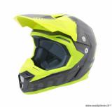 Casque moto cross adulte MT Synchrony Spec taille XS (T53-54) couleur titane/jaune fluo