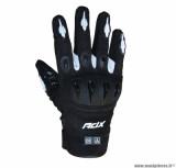 Gants moto printemps-été ADX Miami taille M (T9) couleur noir/blanc