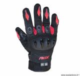 Gants moto printemps-été ADX Miami taille M (T9) couleur noir/rouge