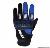 Gants cross ADX Town taille M (T9) couleur noir/bleu yam