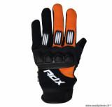 Gants cross enfant ADX Town taille XXS (T6) couleur noir/orange fluo
