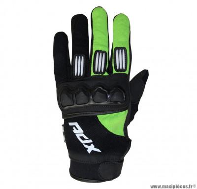 Gants cross ADX Town taille S (T8) couleur noir/vert fluo