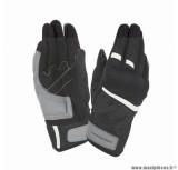 Gants moto printemps-été Tucano Penna taille L (T10) couleur noir/blanc (compatible écran tactile)