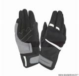 Gants moto printemps-été Tucano Penna taille XL (T11) couleur noir/blanc (compatible écran tactile)