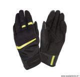Gants moto printemps-été Tucano Penna taille S (T8) couleur noir/jaune fluo (compatible écran tactile)