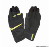 Gants moto printemps-été Tucano Penna taille M (T9) couleur noir/jaune fluo (compatible écran tactile)