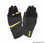 Gants moto printemps-été Tucano Penna taille L (T10) couleur noir/jaune fluo (compatible écran tactile)