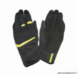 Gants moto printemps-été Tucano Penna taille XL (T11) couleur noir/jaune fluo (compatible écran tactile)