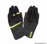 Gants moto printemps-été Tucano Penna taille XXL (T12) couleur noir/jaune fluo (compatible écran tactile)