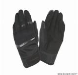 Gants moto printemps-été Tucano Penna taille L (T10) couleur noir (compatible écran tactile)