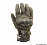 Gants moto 4SEASONS ADX Vintage taille L (T10) couleur marron/moutarde