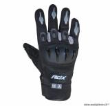 Gants moto printemps-été ADX Miami taille M (T9) couleur noir/gris