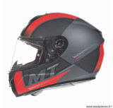 Casque intégral MT Rapide Overtake taille XS (T53-54) couleur gris/rouge mat