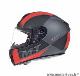Casque intégral MT Rapide Overtake taille S (T55-56) couleur gris/rouge mat
