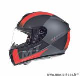 Casque intégral MT Rapide Overtake taille L (T59-60) couleur gris/rouge mat