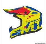 Casque moto cross adulte MT Falcon Weston taille XS (T53-54) couleur jaune brillant