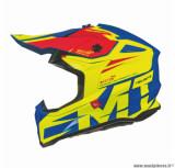Casque moto cross adulte MT Falcon Weston taille S (T55-56) couleur jaune brillant