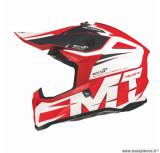 Casque moto cross adulte MT Falcon Weston taille XS (T53-54) couleur rouge brillant