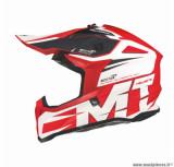 Casque moto cross adulte MT Falcon Weston taille M (T57-58) couleur rouge brillant