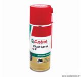 Graisse à chaine (aérosol 400ml) Castrol chain spray o-r - o.ring et x.ring (avec ou sans joint)