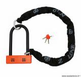 Antivol Maggi (chaine + U) chaine lasso 1.10m avec gaine de protection, U 200x95mm (classe SRA)