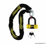 Antivol Auvray X.Lock (chaine + U) chaine 1.20m, maillon diamètre 10mm, U Xtrem mini (classe SRA)