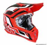 Casque moto cross adulte ProGrip 3180 taille XS (T53-54) couleur rouge/blanc