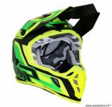 Casque moto cross adulte ProGrip 3180 taille XS (T53-54) couleur vert/jaune