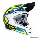 Casque enfant moto cross ProGrip 3009 taille YL (T53-54) couleur bleu/jaune