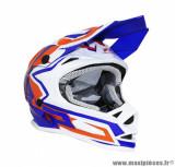Casque enfant moto cross ProGrip 3009 taille YS couleur bleu/orange