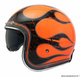 Casque jet/bol MT Le Mans 2 SV Flaming taille M (T57-58) couleur orange fluo