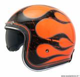 Casque jet/bol MT Le Mans 2 SV Flaming taille XXL (T63-64) couleur orange fluo