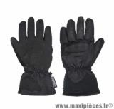Gants moto hiver ADX Highway taille XS (T7) couleur noir (textile + coque avec doublure polaire)