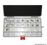 Coffret de 15 pastilles de soupape (2,50mm à 3, 20mm) pour piaggio fly après 2012, vespa lx après 2012 4 soupapes