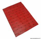 Feuille toile de membrane rouge (210x300mm) pour cyclomoteur solex
