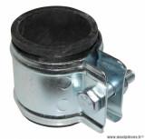 Collier fixation coudé pot d'échappement (28mm) pour mécaboite