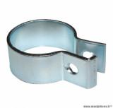 Collier fixation coudé d'échappement (34mm) pour mécaboite