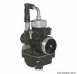 Carburateur premium 19 type PHBG noir avec depression + graissage sur l'admission (cuve alu, montage souple) pour mécaboite