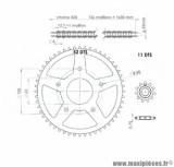 Kit chaine 420 11x52 diamètre 62 / 5 fixations pour 50 à boite peugeot xp7 sm, xr7, nk7, xps sm 2005>2008 * Prix spécial !